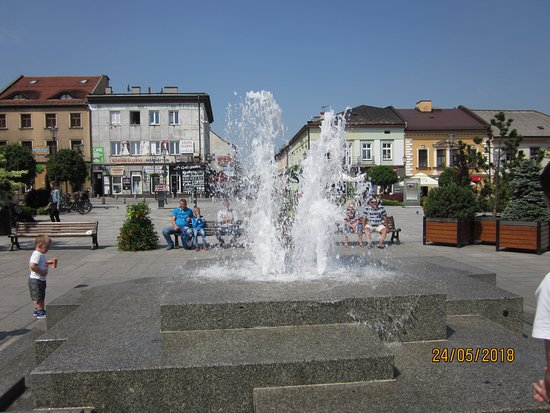 Another beautiful square  near the fountain and the famous clock