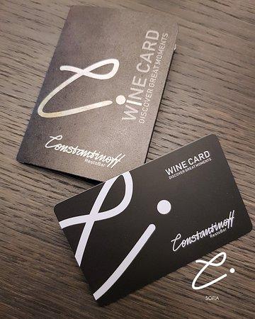 Wine card...