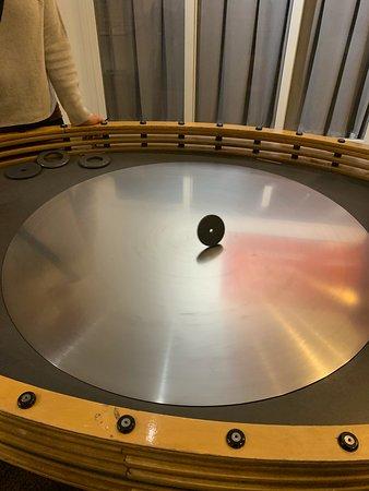 Metal plate and metal circles