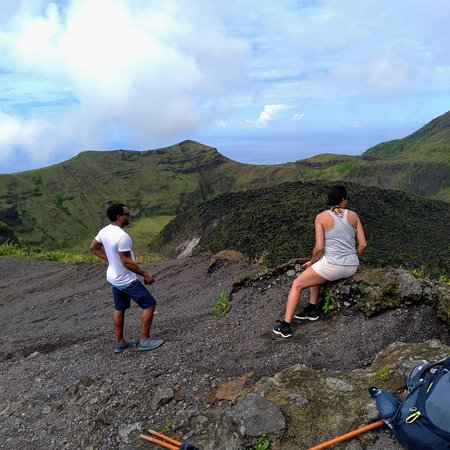 Soufrière Mountains, St. Vincent: Top of the mountain