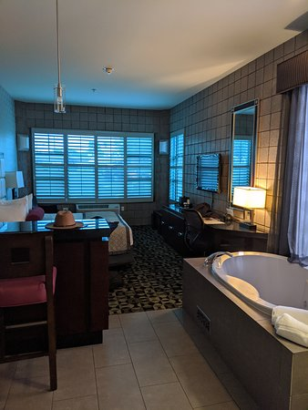 Room 110 First floor, king bed with Jacuzzi.