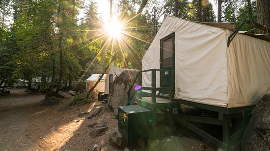 camping with equiped tents