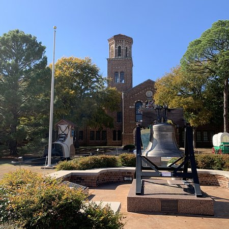 Liberty bell in front of the Hardin Administration Building.