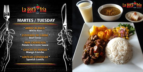"""many flavors here in """"La Gota Fria Restaurant"""" come try !! #lunch #lunchtoday"""