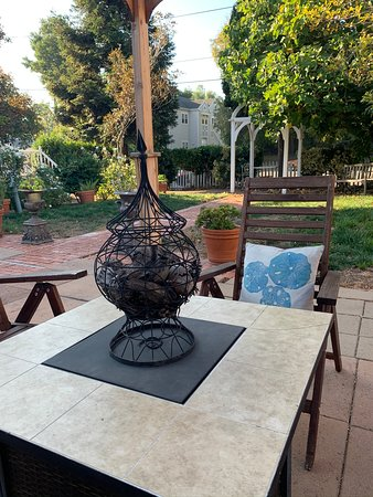 Fire pit and outdoor seating at the Inn