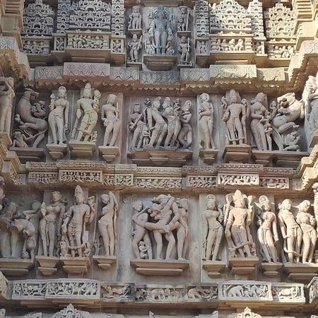 The Khajuraho Temples complex is a group of hindu and Jain temples in MP and are renowned for their erotic sculptures.