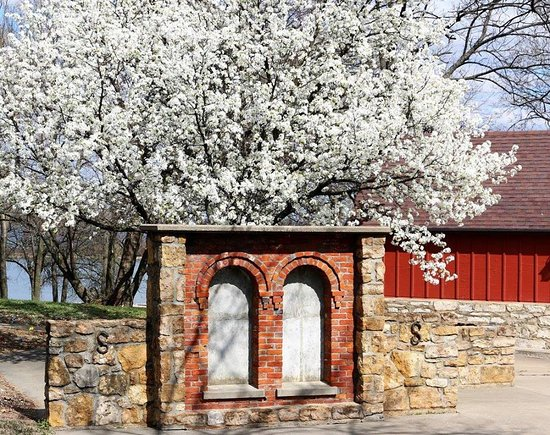 Lawrence, KS: Preserved window arches from the JC Steele home that originally sat on the property where the Wakarusa River Valley Heritage Museum was built.