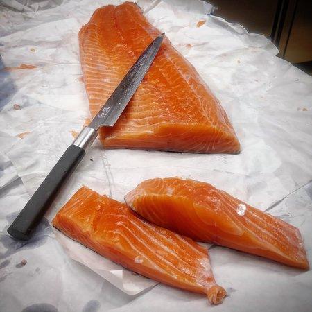 Salmone biologico delle Isole Faroe.