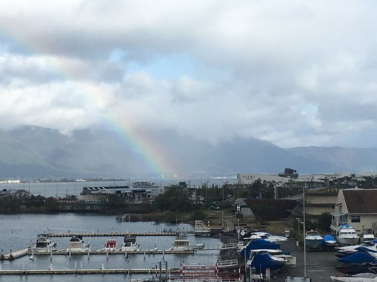 Hotel Biwako Plaza: 部屋の窓から虹が・・・