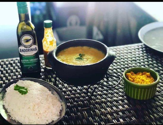 Cargo chef da casa:  bobò de camarão    Com arroz e farofa de dendê !  Venha se saborear!!