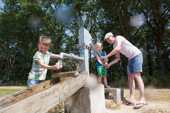 Lemele, Nederland: Spelen in de natuur met een waterpomp