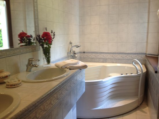 Monte Grimano Terme, Italia: Il bagno privato dedicato a Camera matrimoniale Rubino, completo di grande vasca Jacuzzi