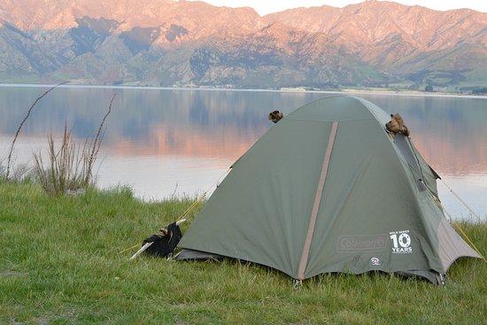 Ultimate Explorer - Top Rated New Zealand Adventure Tour: camping Lake Hawea