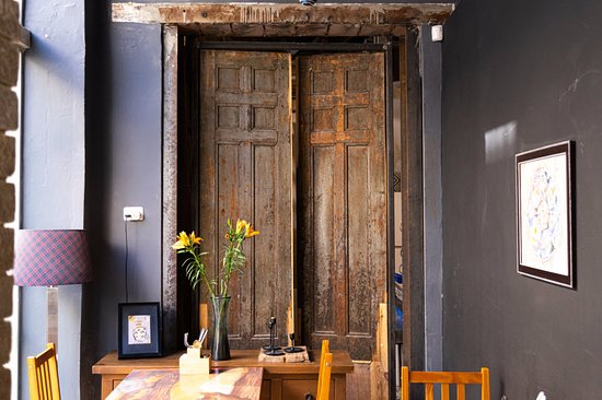 Owners restored old authentic doors
