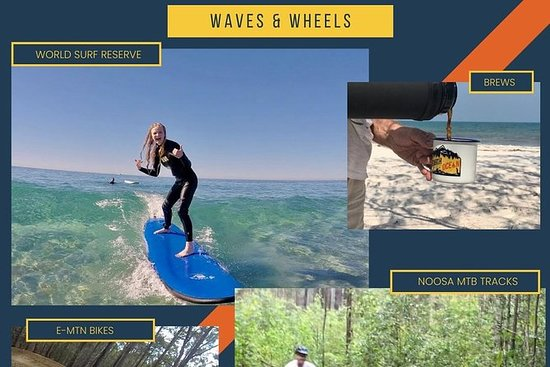 Waves & Wheels | Noosa Surf Lesson...