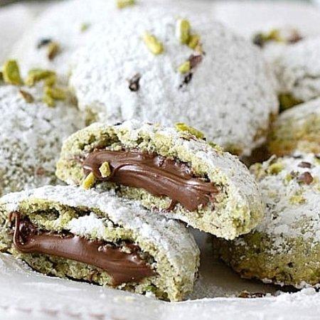 Génova, Italia: Biscotti frolla di pistacchio e Nutella