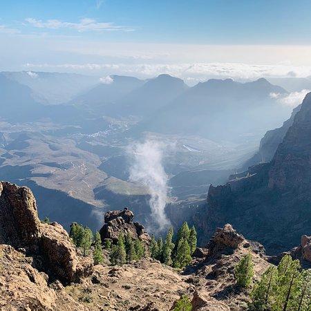 Cruz de Tejeda, Ισπανία: Widok z najwyższego szczytu na Gran Canarii