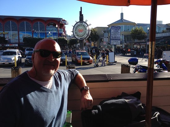 Fisherman's Wharf: Clams, and a cold Stella on a great day at Fisherman Wharf in San Francisco.