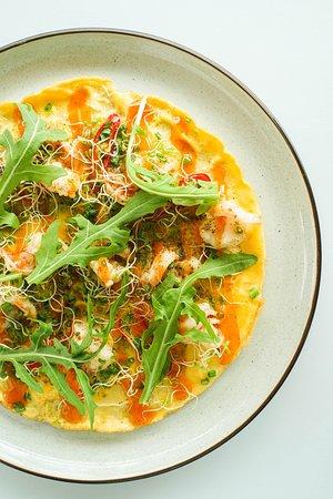 Prawn Omelette siracha