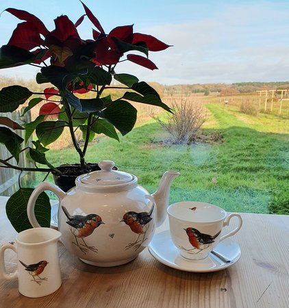 Our loose Leaf tea served in Gabriella shaw teapots