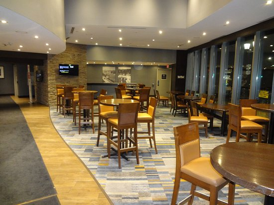Part of one of the lobby sports bar.