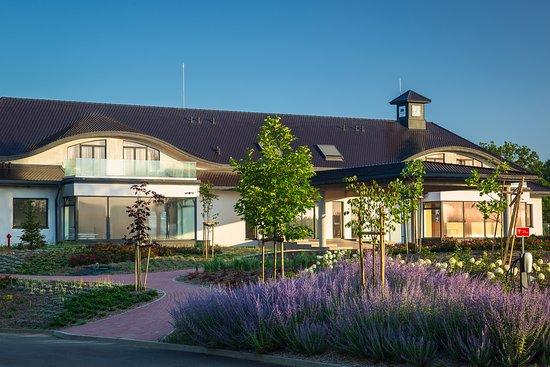 Clubhaus fügt sich perfekt in die Landschaft ein !