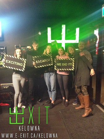 Here's some of our awesome escapee's from Nov 24 - 30 2019. Many failed and succeeded! Try your luck today! #ExitKelowna #kelownaescapegames https://www.facebook.com/ExitKelowna/photos/?tab=album&album_id=2584481184961663