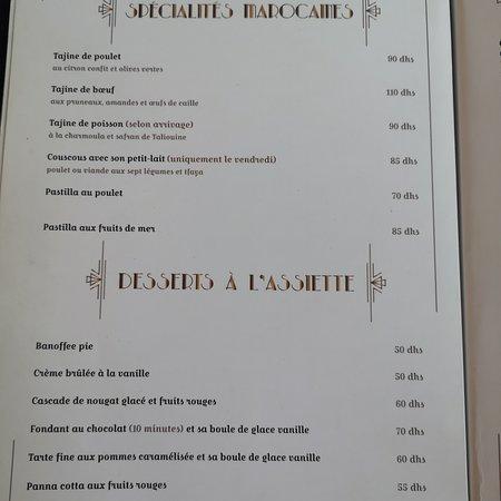 Le gatsby full menu