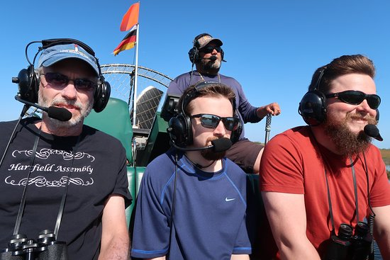 Headphones allowed Captain Ron to give us commentary.  Also, we could talk to him and to each other.