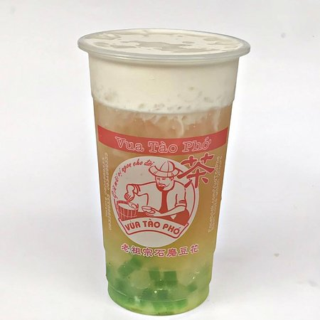 Salted Cheese Cream Green Tea with pearl jelly.
