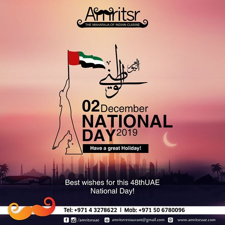Amritsr wishes everyone a Happy 48th UAE National Day!  #Amritsr #UAENationalDay #NationalDayUAE #Dubai #UAE #48thNationalDay #HappyUAENationalDay #Celebration #Patriotic #Decemeber2nd #LongLiveUAE #Wishes #NationalDay #Flag #NBationalDayCelebrations #UnitedArabEmirates #Unity