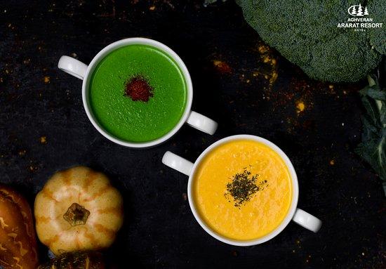 It's an exact time to enjoy a warm cream soup.🤗 ——————— #aghveranararatresort #aghveranararat