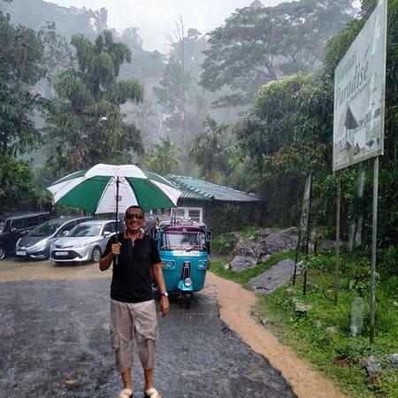 Matale, Sri Lanka : Rainfall in hunnasgiriya