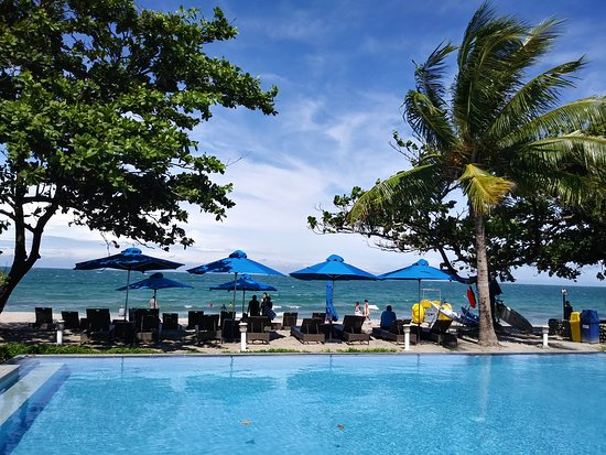 Aureo La Union's pool and beach view