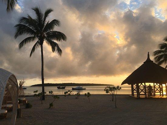 Un petit bout de la plage de l'hôtel