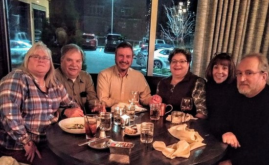 Friends for 26 years get together at The Spotted Horse.