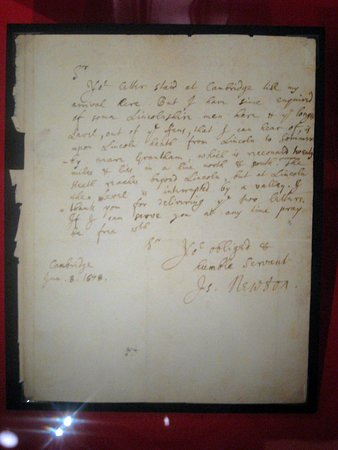 Letter from Isaac Newton to Robert Hooke