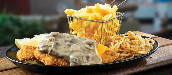 Cheddamelt Chicken Schnitzel