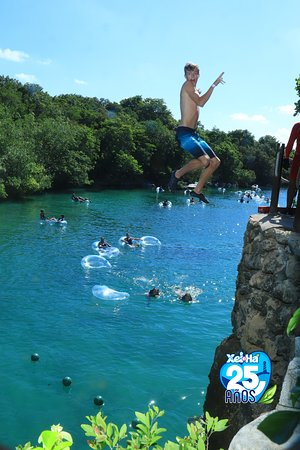 Xel-Há Park All-Inclusive Admission Ticket: cliff jumping