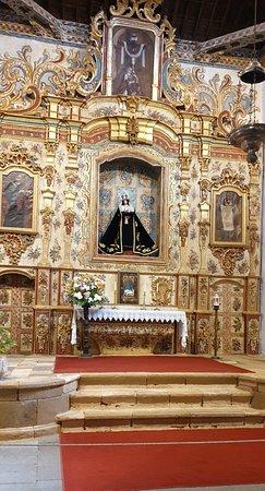 Inside church at Pajara