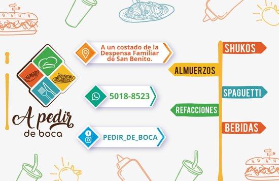 San Benito, Guatemala: Nos especializamos en Rice&Beans y Shukos Ofrecemos Menú diario y tenemos una carta a disposición