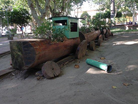 Tren de troncos