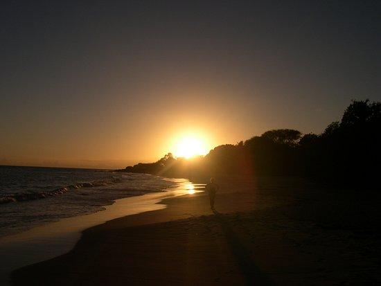 Souvenirs de Martinique --- Coucher de soleil sur la plage des salines
