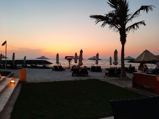 A great sunset from the terrace of the Bab al Bader Restaurant