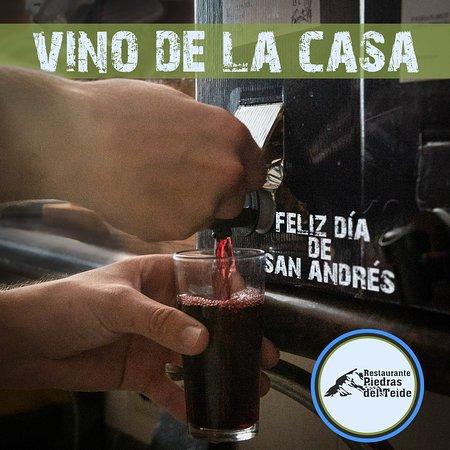 Feliz día de San Andrés! Día de vino🍷, de castañas🌰, de descorche🍾, de familia y amigos, desde Restaurante Piedras del Teide les deseamos un magnífico día a todos los amantes del vino y a las bodegas🍷🌰🥩 recuerden que estamos abiertos hasta las 22:00, les esperamos!