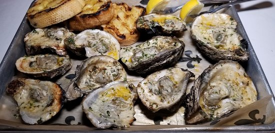 Char-grilled Oysters on the half-shell