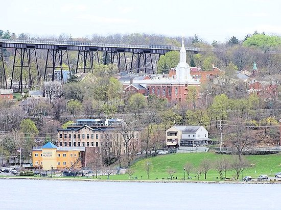 view from trail of the Hudson riverfront