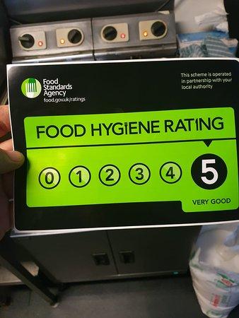 5* food and hygeine rating