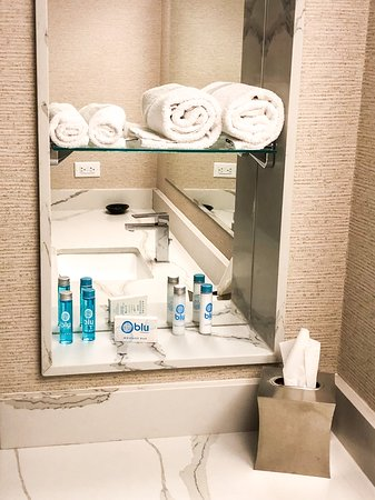 Toiletries and towels