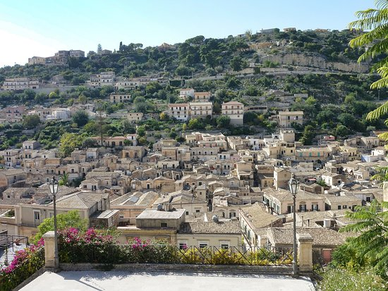 View of the town lower down from the Chiesa